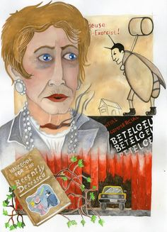"Omaggio al film ""Beetlejuice"" di Tim Burton Sabina Meschisi Acquerelli su cartoncino bianco cm 24 x 33 Tribute to ""Beetlejuice"" by Tim Burton Watercolor on paper cm 24 x 33"