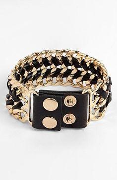 Carole Chain Cuff Bracelet (Juniors) | Nordstrom
