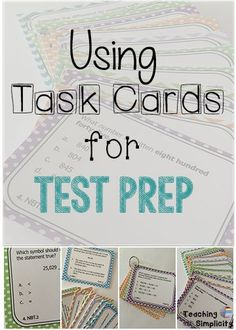 Find strategies for using task cards for test prep and even enrichment.