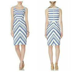 """Stripped Sheath Dress Blue and white, zipper back.  NWT.  37 1/2"""" long. The Limited Dresses"""