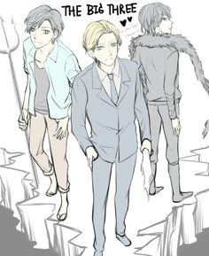 That's about as formal Percy's gonna get, huh? [Jason Grace + Percy Jackson+ Nico di Angelo = The Big Three]