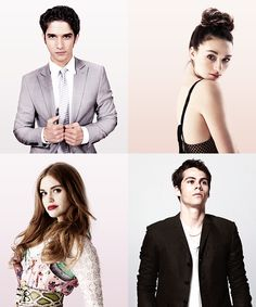 Tyler Posey, Crystal Reed, Holland Roden and Dylan O'Brien - Teen Wolf