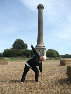Newcomer to the Album Caroline Thatcher doing a spot of stretching at Ammerdown today...lovely location for a Triangle Pose— at Ammerdown.  www.bevsfitness.co.uk