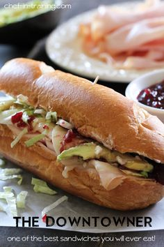 """The Downtowner"" sandwich - its perfect for Thanksgiving leftover..."