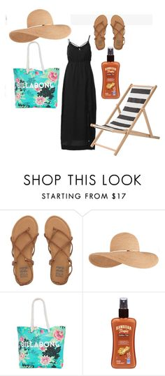 """""""Vestido negro"""" by paty-jose on Polyvore featuring Billabong, Eugenia Kim, Hawaiian Tropic, Bloomingville, women's clothing, women, female, woman, misses and juniors"""