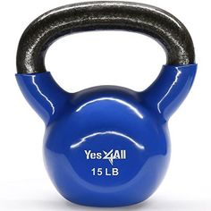 Yes4All Vinyl Coated Kettlebell Weights Set - Great for Full Body Workout and Strength Training - Vinyl Kettlebell 15 lbs - Swing away pain with Yes4All kettlebell- let's swing in more power and energy. Benefits: ease the lower back pain. Total body cardio workout, burn fat and effective toning. Works great for your stabilizing muscles - for active recovery. Build your strength, stability and power. Improve movement, ...