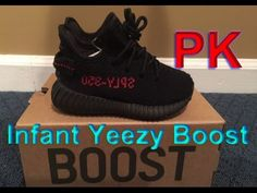 YEEZY BOOST 350 V2 INFANT BB6372 BRED KANYE WEST BLACK RED review from p...