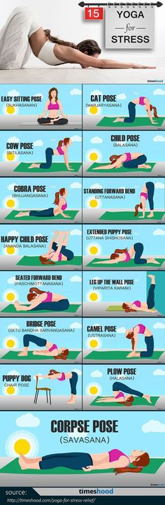 Yoga is one of the best way to be healthy and mentally stable.And for stress, here are 15 easy yoga pose for stress relief you can do at home.