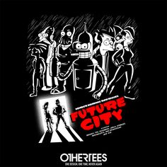 """""""Future City"""" by Melonseta T-shirts, Tank Tops, Sweatshirts and Hoodies are on sale until 6th December at www.OtherTees.com Pin it for a chance at a FREE TEE #sincity #futurama #othertees  https://www.fanprint.com/stores/nascar-?ref=5750"""