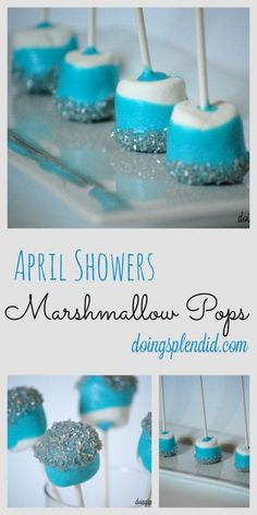 April Showers Marshmallow Pops at http://doingsplendid.com