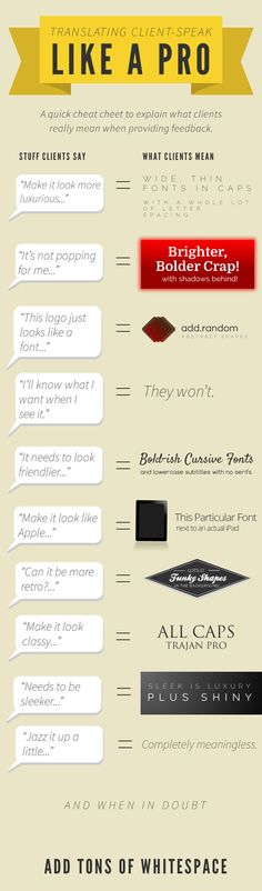 funny tips for graphic designers...