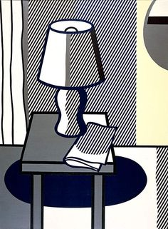 A Still life with table lamp, by Roy Lichtenstein, 1976. Oil on canvas. / Wahoo Art