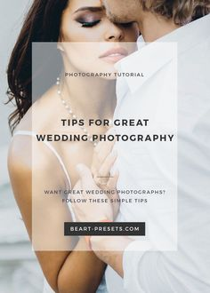 Tips for great wedding photography
