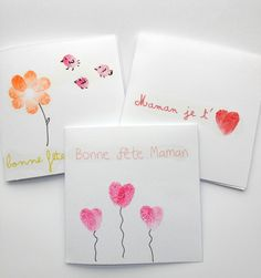 Fingerprint Flower Mother's Day Card – Crafty Morning Diy For Kids, Crafts For Kids, Fingerprint Art, Grandma Birthday, Mothers Day Crafts, Kids Cards, Teacher Gifts, Diy Gifts, Fathers Day