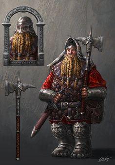 Dwarf infantery soldier by ARTOFJUSTAMAN on DeviantArt