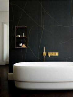 Get Inspired with 20 Luxury Black and White Bathroom Design Ideas - Very Amazing! - Best Home Ideas and Inspiration Modern Bathroom Design, Bathroom Interior Design, Modern Interior Design, Modern Bathrooms, Bathroom Designs, Interior Ideas, Luxury Interior, Bad Inspiration, Bathroom Inspiration