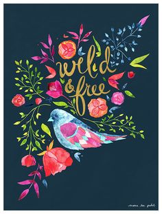 Vibrant blooms and a beautifully feathered bird illustrate perfectly artist Meera Patel's message. Cherry Blossom Tree, Blossom Trees, Canvas Artwork, Canvas Wall Art, Bird Wall Art, Wild And Free, Dark Backgrounds, Framed Art Prints, New Art