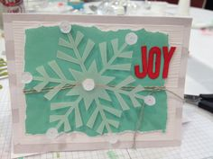 Stampin' Up! demonstrator Jacquie J's project showing a fun alternate use for the Watercolor Winter Simply Created Card Kit.