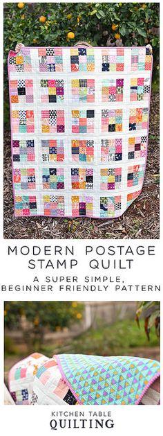Modern Postage Stamp Quilt Pattern - Kitchen Table Quilting