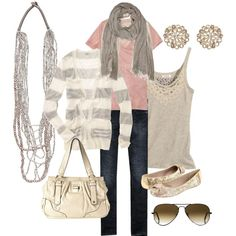 Spring Outfit. Pretty sure I have just about everything to pull this off... except the striped cardigan