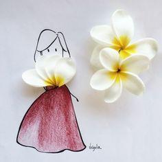 Un fiore è il ventaglio dietro cui si nasconde Virgola by Virginia Di Giorgio
