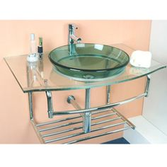 @Overstock - Create a serene environment with this glass vanity and faucet  This glass vanity and faucet from features a sleek, modern design  This faucet is constructed of solid brass with a gleaming chrome finishhttp://www.overstock.com/Home-Garden/Kiliv-Modern-Wall-mounted-Glass-Vanity-and-Faucet/4668156/product.html?CID=214117 $249.83