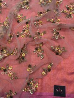 plain soft raw silk saree with designer blouse pc Raw Silk Saree, Silk Dupatta, Silk Sarees, Embroidery On Kurtis, Kurti Embroidery Design, Suits Online Shopping, Fancy Sarees, Saree Dress, Woman Clothing
