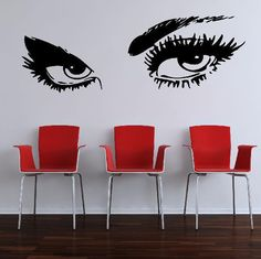 Giant EYES Large Bedroom Wall Art