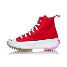 CONVERSE RUN STAR HIKE 167107C red JW anderson platform WOMEN DONNA Converse Chuck Taylor High, Converse High, High Top Sneakers, Chuck Taylors High Top, University, Hiking, Platform, Running, Stars
