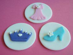 Fondant Princess Cupcake Toppers