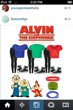 alvin and the chipmunks teen group costume