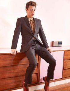 Cameron Dallas, estrellas de internet y recientemente imagen de Calvin Klein posa para el lente de Jack PIerson en la edición Spring/Sum...