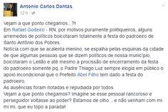 RN POLITICA EM DIA: RAFAEL GODEIRO: VEREADOR DENOTA OPOSIÇÃO POR TER, ...
