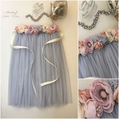 Excited to share the latest addition to my #etsy shop: Brand new soft tulle skirt / wedding skirt / flower belt / perles belt #clothing #women #skirt #tulleskirt #tulle #lace #perles #wedding #flower