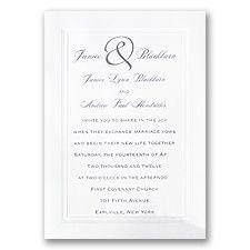 Under $60   Classic Wedding Invitations   Invitations by David's Bridal