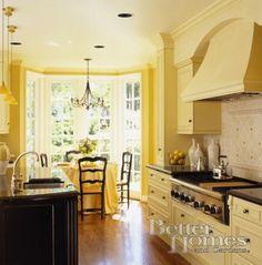 I want a yellow kitchen Sooo bad! Love it!!