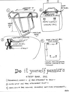 Do it yourself panniers for a bicycle