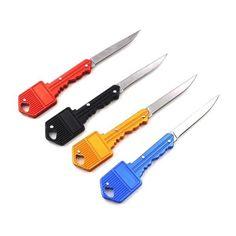 Multi Outdoor Folding Keychain Stainless Steel Self-defense Tool Key Knife Best Pocket Knife, Pocket Knives, Gear 4, Edc Gear, Tools For Women, Self Defense Tools, Outdoor Survival, Outdoor Tools, Outdoor Gear