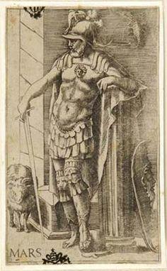 "Julius Bonasoni, ""Mars"" (with his signs Aries and Scorpio), 16th century"