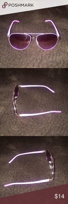 Purple and Gold Steve Madden Sunglasses for Women These sunglasses are super cute and stylish!! I just have too many different pairs of glasses. Steve Madden Accessories Sunglasses