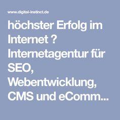 h�chster Erfolg im Internet ? Internetagentur f�r SEO, Webentwicklung, CMS und eCommerce ? Kostenfreie Erstberatung ?