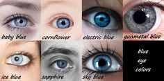 An interesting chart of eye colors (because jade and emerald are NOT the same color).