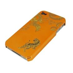 Orange Golden Dragon and Tiger for iPhone4/4S