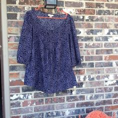 Loft spring and summer blouse Only light wear - purple blue-ish and black! LOFT Tops Blouses