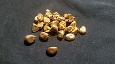 Gold Plated Nugget Beads by TheChristianBoutique on Etsy