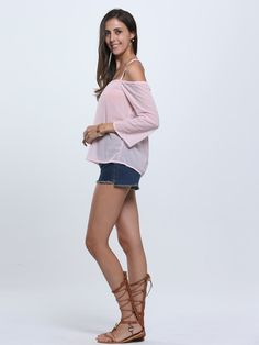 2cd66731fc9315 Amazon.com  Choies Women s Halter Backless Cross Straps Loose Off Shoulder  Shirt Blouse Top  Clothing