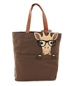 When you're on the go, toting your essentials can be a tall order. This giraffe-adorned bag rises to the task with a roomy interior and a handy zip pocket that secures must-haves while keeping them close at hand. Zulily Giraffe Clothes, Giraffe Decor, Safari Animals, Animals And Pets, Canvas Tote Bags, Cute Bags, Zebras, Spirit Animal, Fashion Bags