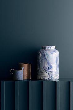 Blue Rooms, Blue Bedroom, Blue Walls, Bedroom Decor, Warm Gray Paint, Grey Paint Colors, Warm Grey, Timber Battens, Timber Walls