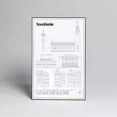 Studio Esinam Stockholm Elevations Poster