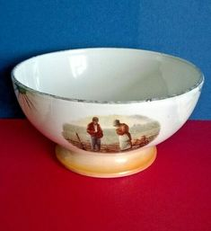 Vintage French cafe au lait / coffee bowl with a transfer of The Angelus Ref 587